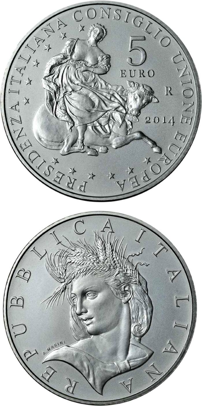 5 euro Italian Presidency of the Council of the EU - 2016 - Series: Silver 5 euro coins - Italy