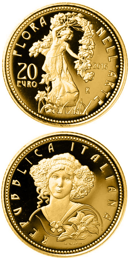 20 Euro Coin Flora In The Art Contemporary Age Italy 2016