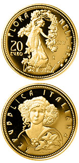 20 euro Flora in the Art: Contemporary Age - 2016 - Series: Gold 20 euro coins - Italy
