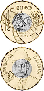 5 euro Death of Toto 50 Years - 2017 - Series: Silver 5 euro coins - Italy