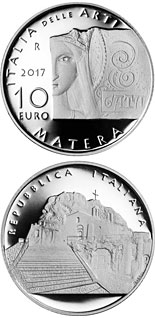 10 euro coin Italy of Arts: Matera | Italy 2017
