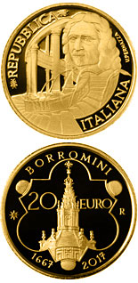 20 euro coin 350th Anniversary Of The Purchase Of Francesco Borromini | Italy 2017