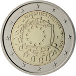 2 euro coin The 30th anniversary of the EU flag | Italy 2015