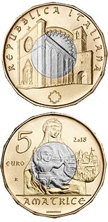 5 euro coin Art treasures of Amatrice | Italy 2018