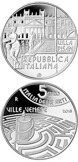 5 euro coin The Venetian Villas – Veneto | Italy 2018