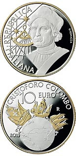 10 euro coin Christopher Columbus | Italy 2019