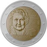 2 euro coin 150th Anniversary of the Birth of Maria Montessori | Italy 2020