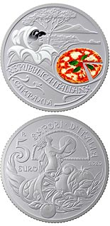 5 euro coin Italy's Food & Wine Culture - Pizza and Mozzarella | Italy 2020