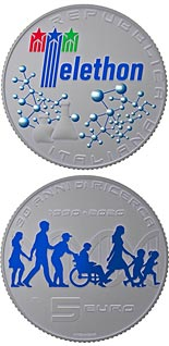 5 euro coin 30th Anniversary of the Telethon Foundation | Italy 2020