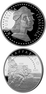5 euro coin 500th Anniversary of the death of Raffaello Sanzio | Italy 2020