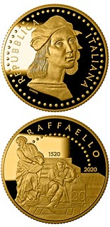 20 euro coin 500th Anniversary of the death of Raffaello Sanzio | Italy 2020