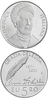 5 euro coin 150th Anniversary of the birth of Grazia Deledda | Italy 2021