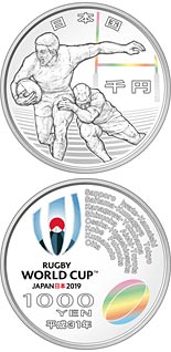 5000 yen coin Rugby World Cup 2019 | Japan 2019