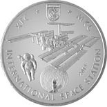 50 tenge coin INTERNATIONAL SPACE STATION (ISS) | Kazakhstan 2013