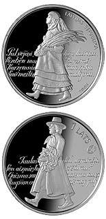 1 lats Song Festival - 2008 - Series: Silver lats coins - Latvia