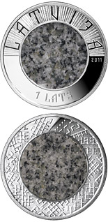 1 lats Stone coin - 2011 - Series: Latvian bi-material coins - Latvia