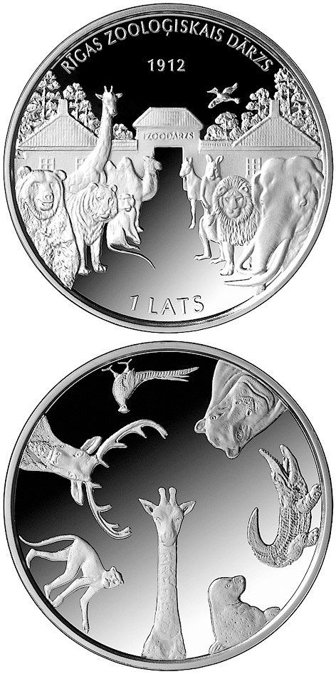 1 lats 100th Anniversary of the Founding of Riga ZOO - 2012 - Series: Silver lats coins - Latvia