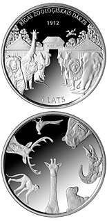 1 lats coin 100th Anniversary of the Founding of Riga ZOO | Latvia 2012