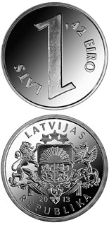 1 lats coin Parity coin | Latvia 2013