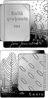5 euro coin The White Book | Latvia 2014