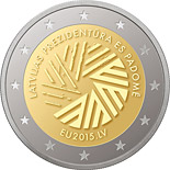 2 euro Presidency of the Council of the European Union - 2015 - Series: Commemorative 2 euro coins - Latvia