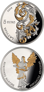 5 euro coin Baroque of Courland | Latvia 2014