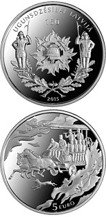 5 euro coin 150 Years of Firefighting in Latvia | Latvia 2015