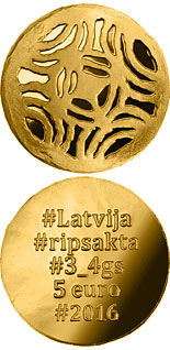 5 euro coin Gold Brooches | Latvia 2016