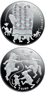 5 euro Fairy Tale Coin III. The Old Man's Mitten - 2017 - Series: Silver 5 euro coins - Latvia