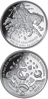 5 euro Smith forges in the sky - 2017 - Series: Silver 5 euro coins - Latvia