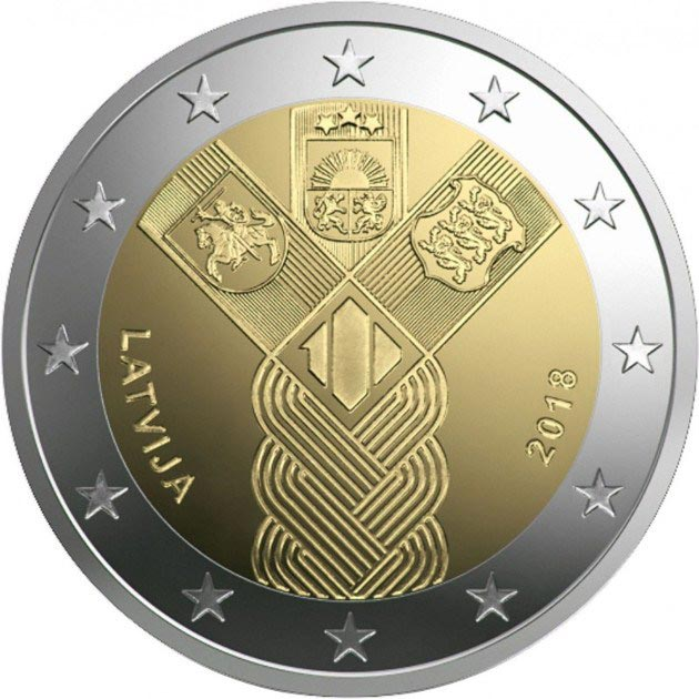 2 euro coin 100th Anniversary of the Baltic States | Latvia 2018