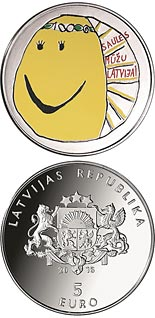 5 euro coin My Latvia | Latvia 2018