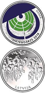 5 euro coin The Garden of Destiny | Latvia 2018
