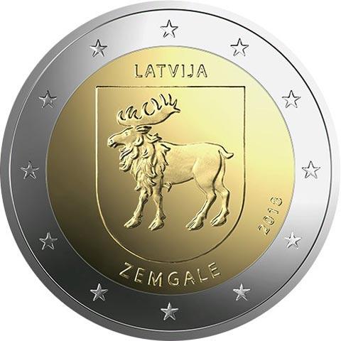 2 Euro Coin Zemgale Latvia 2018