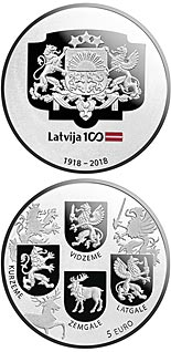 5 euro coin Coats of Arms | Latvia 2018