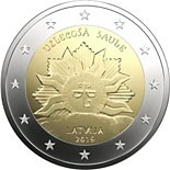 2 euro coin The Rising Sun | Latvia 2019
