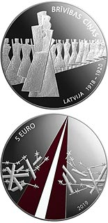 5 euro coin Freedom Fights (1918-1920) | Latvia 2019