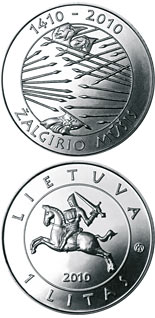 1 litas coin 600th anniversary of the Grünwald Battle | Lithuania 2010