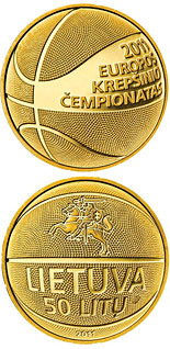 50 litas coin European Basketball Championship 2011  | Lithuania 2011