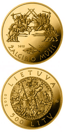 500 litas 600th anniversary of the Grünwald Battle  - 2010 - Series: Gold coins - Lithuania