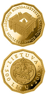 500 litas coin Palace of the Rulers of the Grand Duchy of Lithuania  | Lithuania 2005