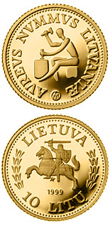 10 litas coin History of Gold  | Lithuania 1999