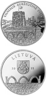 50 litas coin Vilnius Upper Castle  | Lithuania 2011