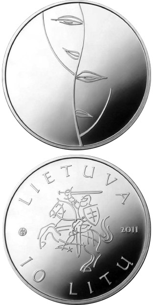 10 litas Coin dedicated to theater  - 2011 - Series: Lithuanian culture - Lithuania