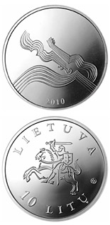 10 litas coin Coin dedicated to music  | Lithuania 2010
