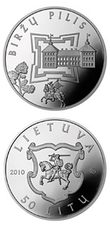 50 litas coin Birzai Castle  | Lithuania 2010