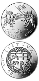 50 litas coin 600th anniversary of the Grünwald Battle  | Lithuania 2010