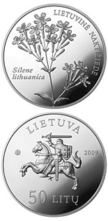 50 litas coin Silene lithuanica  | Lithuania 2009