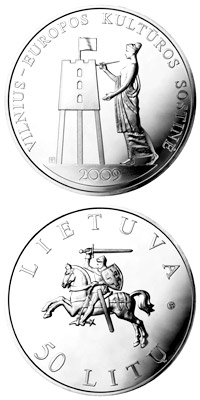 50 litas | Lithuania | Vilnius Capital of Culture  | 2009