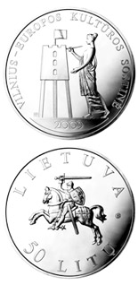 50 litas coin Vilnius Capital of Culture  | Lithuania 2009